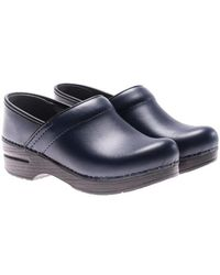 Dansko - Blue Leather Clogs - Lyst