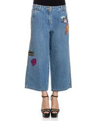 KENZO - Crop Jeans - Lyst