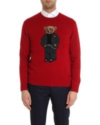 Polo Ralph Lauren Wool Blend Icon Jumper - Red