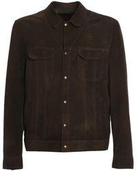 Salvatore Santoro Suede Shirt-jacket - Brown