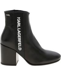 Karl Lagerfeld Karl Band Lavinia Booties - Black
