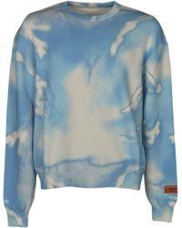 Heron Preston Tie-dye Sweater - Blue