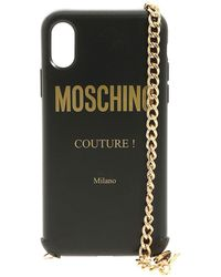 Moschino - Iphone Xs And S Cover In Black With Logo - Lyst