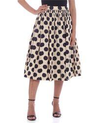 Casey Casey Double Rideau Skirt - Natural