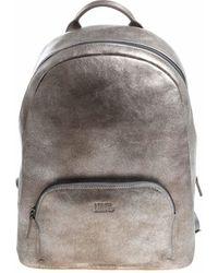 Karl Lagerfeld Silver Vintage Effect Backpack - Metallic