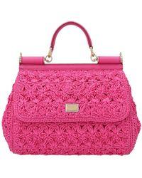 Dolce & Gabbana Borsa Sicily Fucsia - Rosa