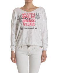 Au Soleil De Saint Tropez V Neck Sweatshirt - Multicolor