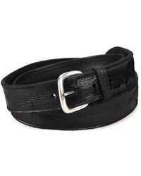 Orciani Cut Textured Leather Belt - Black