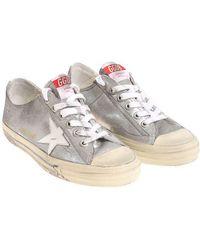 Golden Goose Deluxe Brand - Silver V-star Sneakers - Lyst