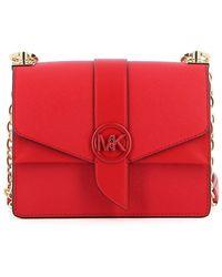 Michael Kors Borsa Greenwich Piccola Bright Red - Rosso
