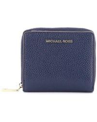 Michael Kors Jet Set Medium Snap Wallet - Blue