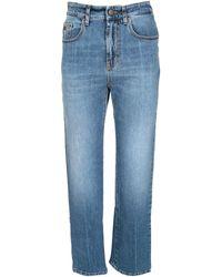 Palm Angels Jeans 5 Tasche Medium Blue
