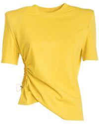 Amen Structured Shoulder T-shirt - Yellow