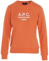 A.P.C. Tina Sweatshirt - Orange