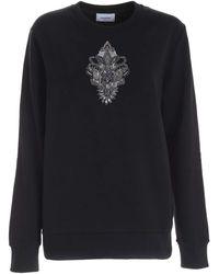 Dondup Logo Rhinestones Sweatshirt - Black