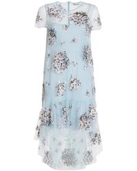 RED Valentino Point D'esprit Tulle Dress - Blue