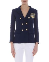 Giada Benincasa - Ciao Amore Patch Double-breasted Blazer - Lyst