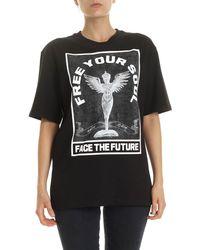 McQ T-Shirt Free Your Soul Nera - Nero