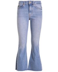 Versace Jeans Couture Crop Flared Jeans - Blue