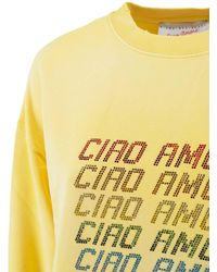 Giada Benincasa Ciao Amore Sweatshirt - Yellow
