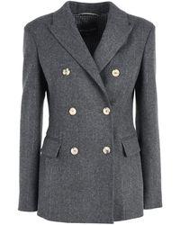 Ermanno Scervino Wool Blend Blazer - Grey
