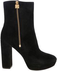 Michael Kors Frenchie Platform Boots - Black