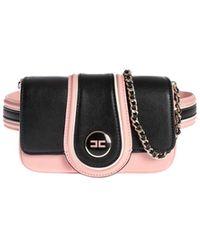 Elisabetta Franchi Belt Bag In Black And Pink