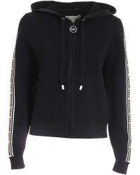 Michael Kors Branded Bands Knitted Sweatshirt - Black