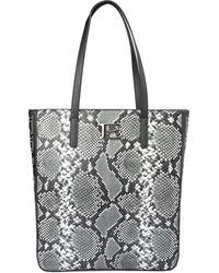 Ermanno Scervino Snake Print Faux Leather Tote Bag - Multicolor