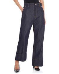 Sofie D'Hoore - Blue Overfit Crop Jeans - Lyst