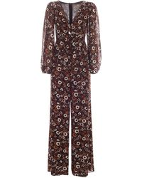 Michael Kors Floral Pattern Jumpsuit - Brown