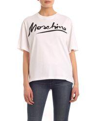 Moschino - Signature Logo Print T-shirt - Lyst