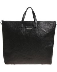 Love Moschino - Black Crackle Eco-leather Bag-backpack - Lyst