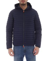 Save The Duck Blue Polyamide Down Jacket
