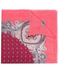 Twin Set Paisley Print Scarf - Pink