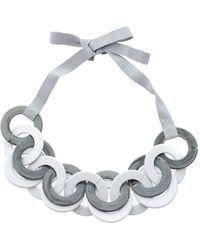 Max Mara Ribbon Necklace - Grey