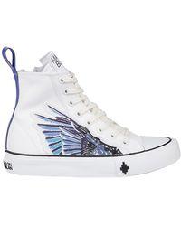 Marcelo Burlon Wings Cotton High-top Sneakers - White