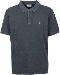 Dondup Metallic Logo Polo Shirt - Grey