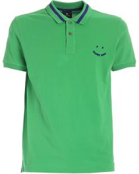 PS by Paul Smith Contrasting Collar Polo Shirt - Green