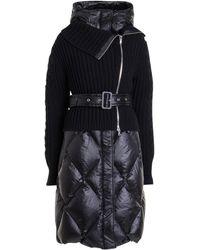 Ermanno Scervino Removable Sweatshirt Puffer Jacket - Black