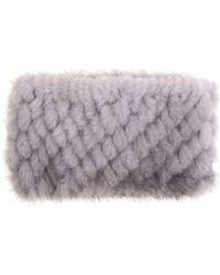 Max Mara Martora Pearl Gray Fur Headband
