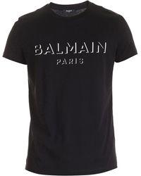 Balmain 3d-effect Logo T-shirt - Black