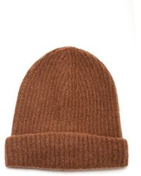 Roberto Collina Ribbed Knit Beanie - Brown