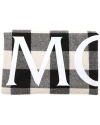 Moncler Checked Print Scarf - Black