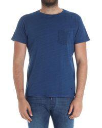 Hackett - Blue Melange T-shirt With Chest Pocket - Lyst