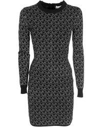 Michael Kors Mk Concrete Dress - Black