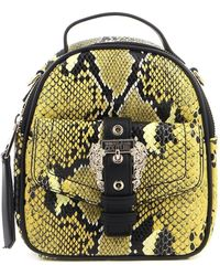 Versace Jeans Couture Python Print Mini Backpack - Yellow