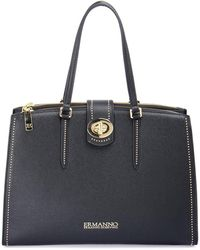 Ermanno Scervino Gianna Shopping Bag - Black