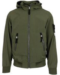 Stone Island Stretch Tech Fabric Hooded Jacket - Green