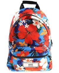 AMI - Hawaiian Pattern Backpack - Lyst